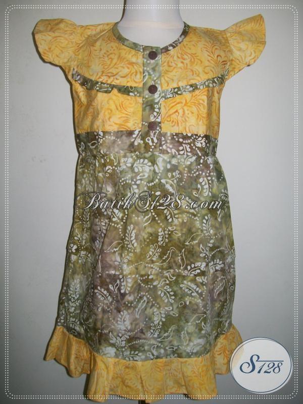 Baju Anak Anak Batik Untuk Perempuan Warna Kuning A024cs