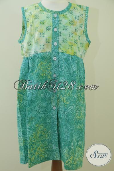 Baju Batik Anak Tanpa Lengan Batik Anak Paduan Dua Warna