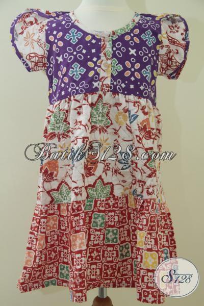 Jual Batik Anak Cewek Untuk Pesta Baju Batik Anak Tiga Kombinasi
