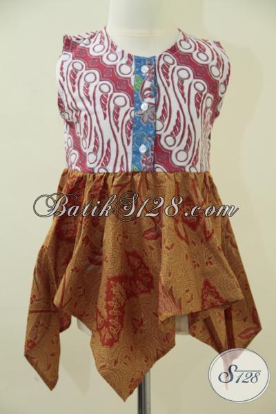 Sedia Busana Batik Trendy Desain Cantik Dan Imut Untuk Anak Perempuan Umur 2 Hingga 3 Tahun [A052P]