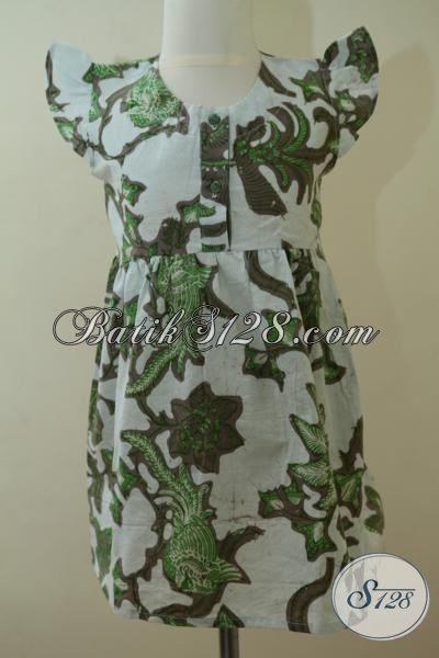 Busana Batik Keren Untuk Anak Perempuan Umur 3 Dan 4 Tahun, Baju Batik Motif Modern Desain Desain Keren Trend Masa Kini [A072BT-U34]