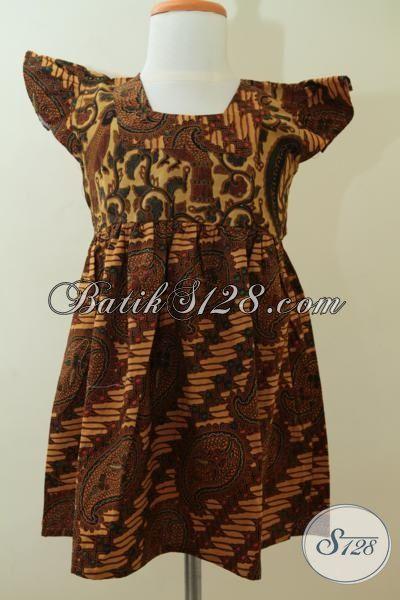 Jual Pakaian Batik Motif Klasik Model Anak-Anak Usia 4 Hingga 6 Tahun, Baju Batik Model Bagus Proses Print harga Murmer [A074P-U456]