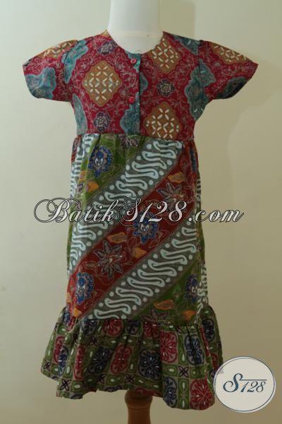 Butik Aneka Batik Solo Online, Juga Menjual Baju Batik Anak Perempuan Model Terbaru Proses Cap Tulis Untuk Usia 4 Hingga 5 Tahun [A076CT-U456]