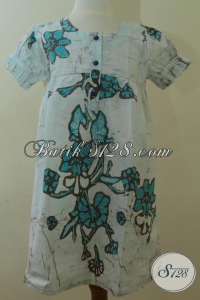Pakaian Batik Trendy Kombinasi Tulis Model Mewah Trend Masa Kini, BajuBatik Lucu Anak Perempuan Usia 6 Hinga 8 Tahun [A077BT-U678]