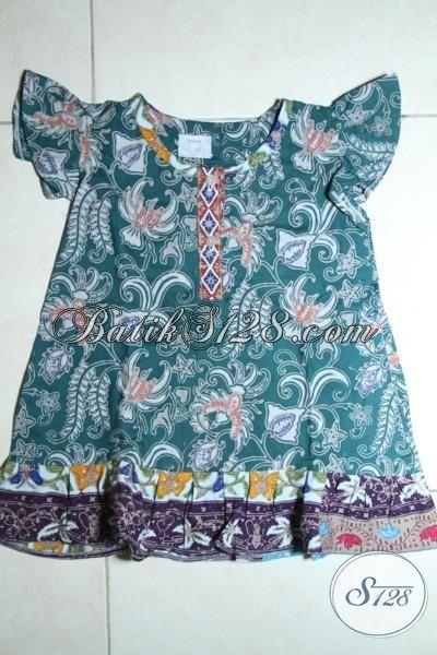 Online Shop Batik Solo, Sedia Busana Batik Anak Perempuan Balita Usia 1 Dan 2 Tahun [A082C-1-2 Th]