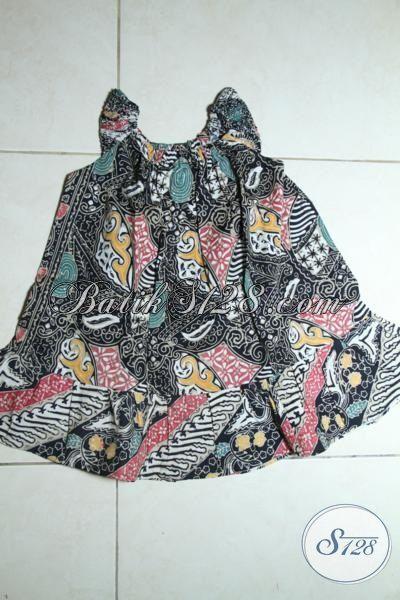 Jual Pakaian Batik Anak Perempuan Model Tanpa Lengan, Batik Balita Desain Dan Motif Lucu Pas Buat Usia 1 Hingga 2 Tahun [A083C-1-2 Th]