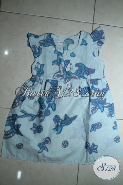 Batik Anak Perempuan Trend Masa Kini Dengan Desain Lucu serta Motif Yang Unik, Busana Batik Kombinasi Tulis Halus Dan Nyaman Di Pakai [A086BT-2-3 Th]
