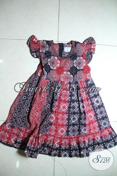 Busana Batik Trendy Kwalitas Halus Dan Adem Untuk Anak Balita Usia 2 Dan 4 Tahun, Batik Cap Motif Modern Untuk Anak Tampil Lebih Bergaya [A089C-2-3 Th]