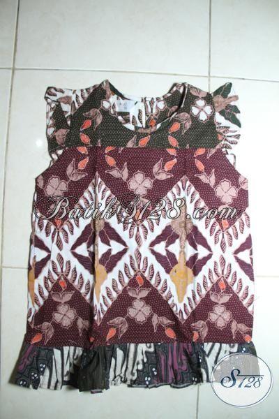 Trend Pakaian Batik Anak Balita Terbaru, Baju Dress Batik Keren Tanpa Lengan Dengan Motif Unik Dan Bahan Yang Lembut, Baju Batik Anak Cewek Usia 2 Hingga Tahun Harga Murmer [A090C-2-3 Th]