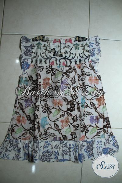Batik Baju Lucu Untuk Anan Perempuan Di Bawah Lima Tahun, Busana Batik Motif Keren Proses Cap  Ukuran Pas Buat Anak 2 Hingga 3 Tahun [A091C-2-3 Th]