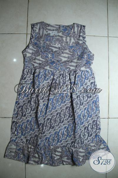 Baju Batik Modern Untuk Anak Perempuan, Busana Batik Trendy Desain Apik Smepurnakan Penampilan Balita Masa Kini [A093CA-3-5 Th]