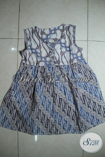 Sedia Aneka Pakaian Batik Anak Balita desain Terkini, Batik Baju Modern Motif Keren Anak Perempuan Tampil Cantik Dan Imut [A095CA-3-5 Th]