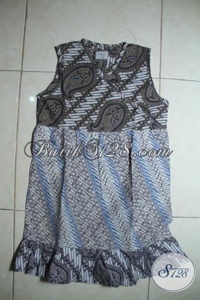 Pakaian Batik Anak Cewek Umur 4 Hingga 6 Tahun Model Mewah Dan Trendy, Baju Batik Motif Klasik Untuk Tampil Modis Dan Imut [A096CP-4-6 Th]