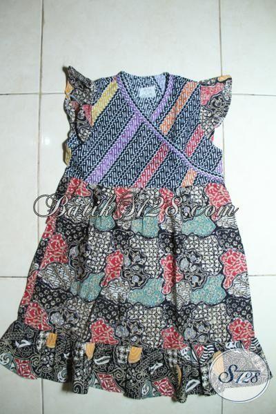 Baju Batik Berkelas Model Tanpa Lengan Untuk Anak