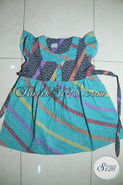 Baju Batik Print Keren Dengan Motif Unik Berpadu Warna Warni Yang Trendy Untuk Anak Kecil Usia 5 Hingga 7 Tahun Bisa Tampil Modis  [A101P-5-7 Th]