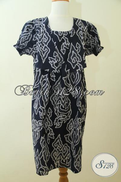 Busana Batik Print Anak Perempuan Model Dan Motig Paling Baru, Pakaian Batik Kwalitas Istimewa Anak Kecil Tampil Trendy [A103P-8-10 Th]