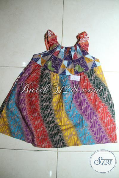 Sedia Batik Baju Anak Trend Masa Kini Model Keren Tampil Cantik Dan Imut, Busana Batik Trendy Cocok Untuk Pesta Dan Main-Main [A107T-2-3 Th]