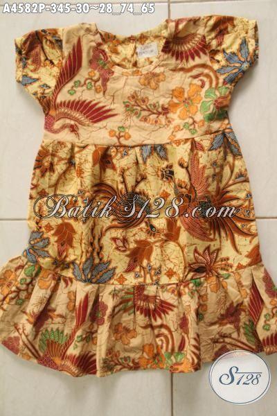 Busana Batik Anak Perempuan, Hadir Dengan Desain Trendy Dan Modis Berbahan Kain Halus Dan Adem Motif Terbaru Proses Printing Harga 30K [A4582P-3 s/d 5 Thn]