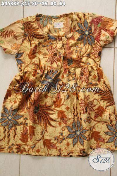 Baju Batik Keren Balitas Perempuan, Produk Baju Batik Modern Motif Terkini Bahan Adem Proses Printing Harga Murmer [A4583P-3 s/d 5 Thn]