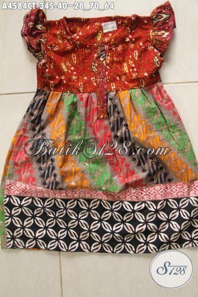 Pakaian Batik Anak Perempuan Motif Kombinasi Baju Batik Anak Usia 3