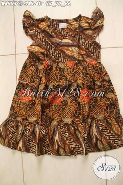 Baju Batik Keren Motif Elegan Buat Anak Perempuan Usia 3 Hingga 5