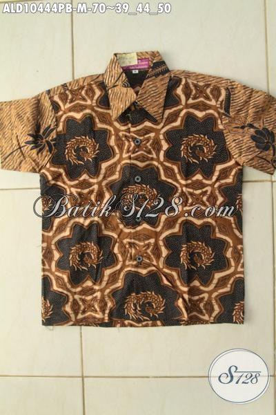 Batik Kemeja Anak Khas Jawa Tengah, Hadir Dengan Desain Keren Motif Bagus Bahan Adem Yang Nyaman Di Pakai, Size M