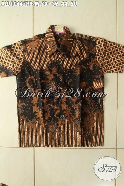 Model Baju Batik Anak Cowok Kekinian, Hem Lengan Pendek Keren Bahan Halus Motif Bagus Hanya 70K, Size M