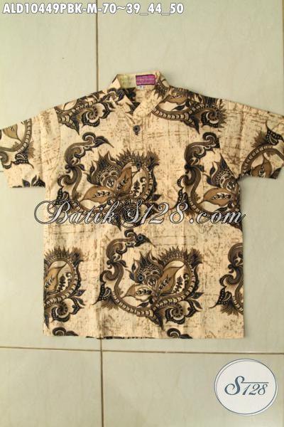 Model Baju Batik Keren Lengan Pendek Anak Laki-Laki, Hem Batik Halus Buatan Solo, Bikin Penampilan Cakep Dan Modis [ALD10449PBK-M]