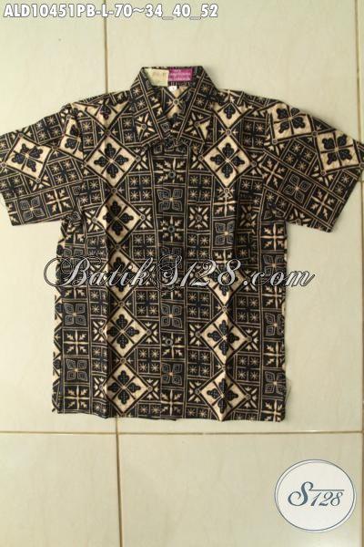 Model Baju Batik Anak Cowok Lengan Pendek Terkin, Kemeja Batik Keren Motif Unik Bahan Adem Nyaman Di Pakai Hanya 70 Ribu [ALD10451PB-L]
