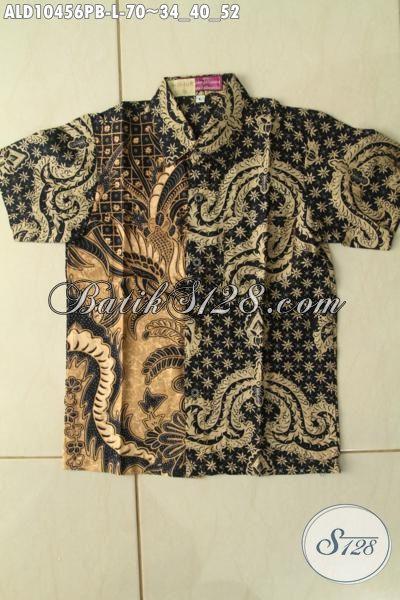 Produk Baju Batik Anak Laki-Laki Terbaru Yang Modis Untuk Acara Santai Dan Resmi, Kemeja Lengan Pendek Halus Motif Klasik Printing Cabut, Penampilan Makin Tampan [ALD10456PB-L]