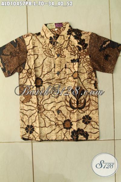 Batik Hem Solo Motif Mewah Lengan Pendek Proses Printing Cabut, Pakaian Batik ELegan Dan Berkelas Hanya 70K [ALD10457PB-L]