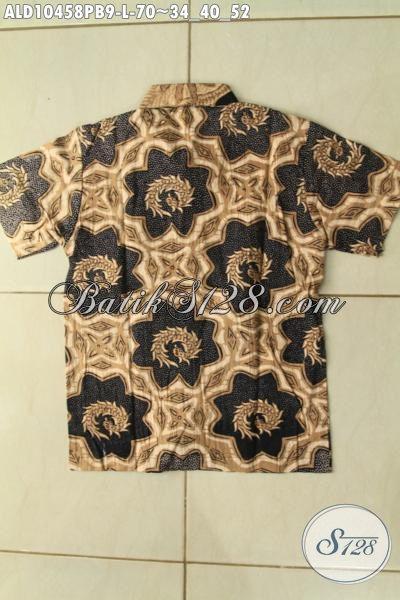Model Baju Batik Anak Laki-Laki Terbaru, Kemeja Batik Modern Dan Kekinian Lengan Pendek Motif Klasik Printing Asli Buatan Solo, Di Jual Online 70 Ribu Saja [ALD10458PB-L]