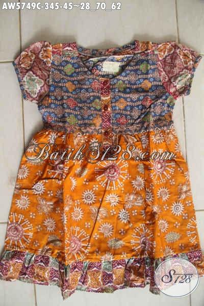Model baju batik anak perempuan warna cerah