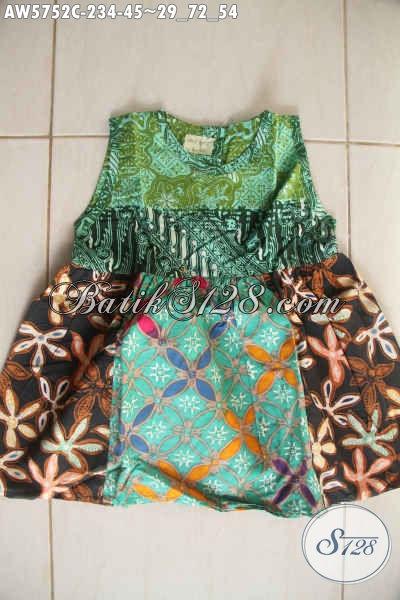 Online Shop Baju Batik Anak, Jual Produk Terbaru Untuk Balita Usia 2 Hingga 4 Tahun, Berbahan Halus Proses Cap Harga 45K [AW5752C-2,3,4 Tahun]