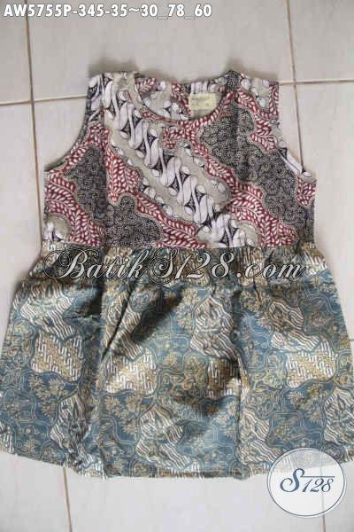Jual Baju Batik Anak Eceran Harga Grosir Untuk Usia 3 Hingga 5 Tahun Bahan Halus Motif Berkelas Proses Printing [AW5755P-3,4,5 Tahun]