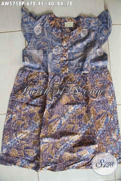 Agen Baju Batik Online, Sedia Busana Batik Anak Umur 6 Hingga 8 Tahun Dengan Desain Trendy Bahan Halus Motif Mewah Proses Printing Harga 45K [AW5758P-6,7,8 Tahun]