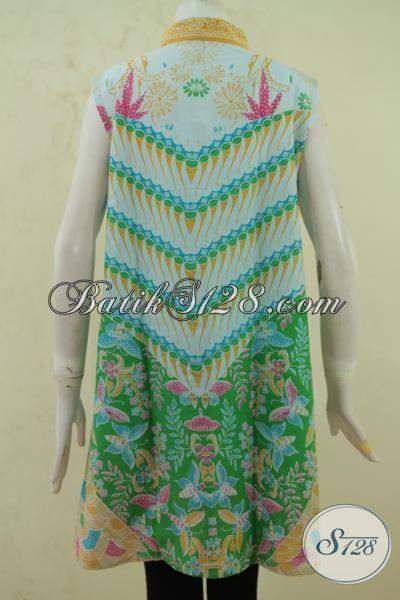 Jual Balero Batik Motif Terbaik Trend Mode Masa Kini, Batik Fashion Wanita Muda Desain Tanpa Lengan Proses Printing Kwalitas Bagus