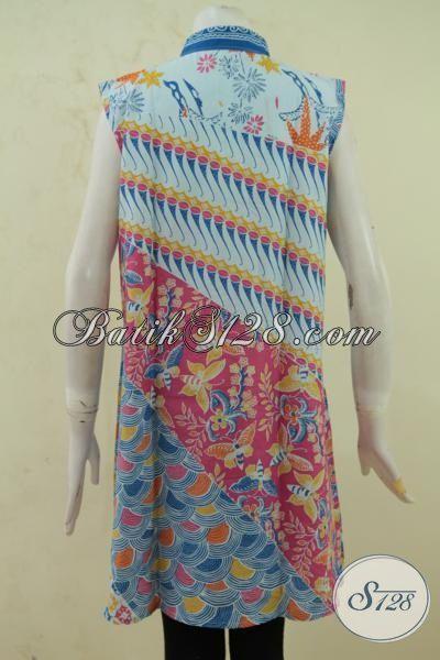 Sedia Balero Batik Tanpa Lengan Model Terbaru Yang Lebih Wah, Atasan Batik Balero Lekbong Bahan Batik Printing Motif Masa Kini [BLR3358P-All Size]