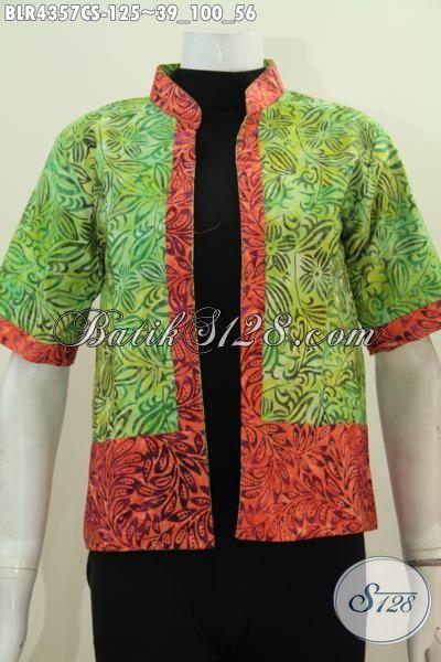 Produk Balero Batik Model Bolak-Balik Hadir Dengan Desain Modis Unik Serta Trendy, Berbahan Batik Cap Smoke Halus Pas Buat Gaul