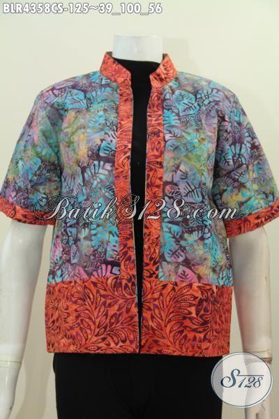 Jual Balero Batik Modern Kwalitas Halus Dan Berkelas, Baju Batik Cap Smoke Model Bolak-Balik Cocok Untuk Hangout Dan Jalan-Jalan