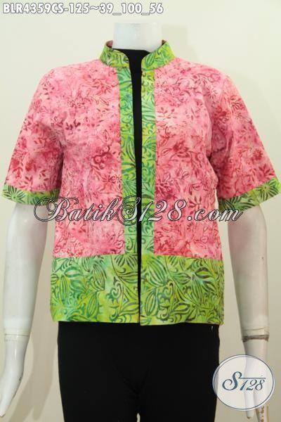 Batik Balero Dua Motif Kwalitas Bagus Desain Mewah Model Bolak Balik, Baju Batik Solo Proses Cap Smoke Trendy Banget Untuk Hangout [BLR4359CS-All Size]