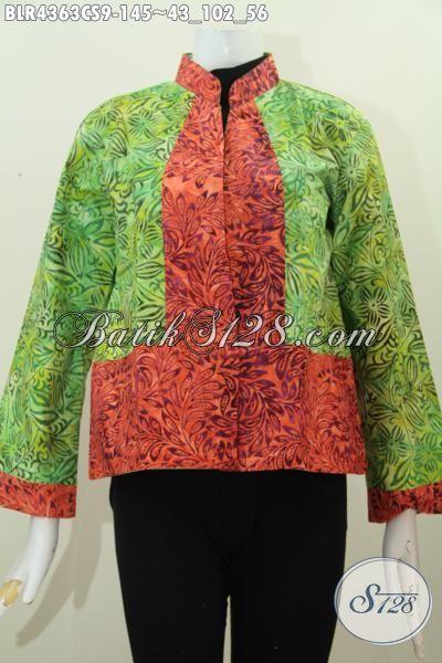 Balero Batik Dua Warna Kwalitas Bagus Desain Trendy Baju