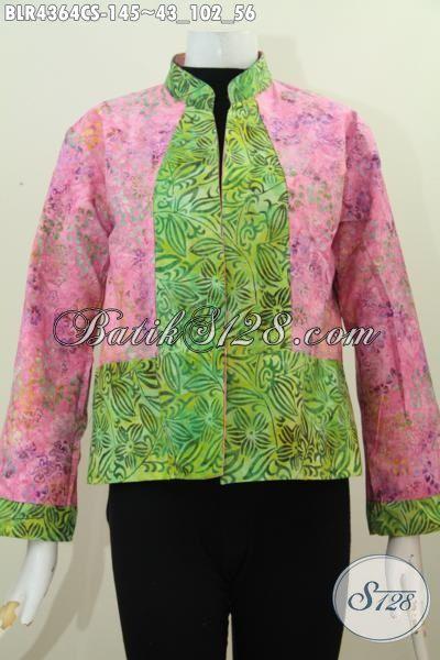 Balero Batik Keren Kombinasi Dua Warna Baju Batik Bolak
