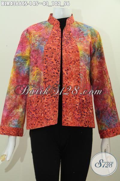 Jual Online Balero Batik Model Terkini Lengan Panjangm Produk Pakaian Batik  Modern Desain Bolak-Balik Bahan Bagus Motif Keren Proses Cap Smoke Cocok Untuk Acara Pesta