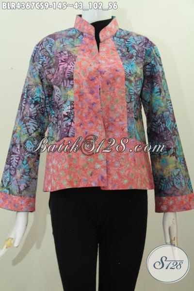 Online Shop Pakaian Batik Kerja Pegawai, Sedia Balero Batik Masa Kini Desain Bolak-Balik Kwalitas Istimewa Proses Cap Smoke Motif Trendy Banget