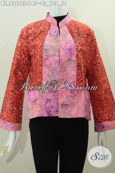 Jual Online Aneka Pakaian Batik Wanita Terkini, Baju Batik balero Model Bolak-Balik Kwalitas Bagus Desain Mewah Trend Mode Masa Kini Proses Cap Smoke
