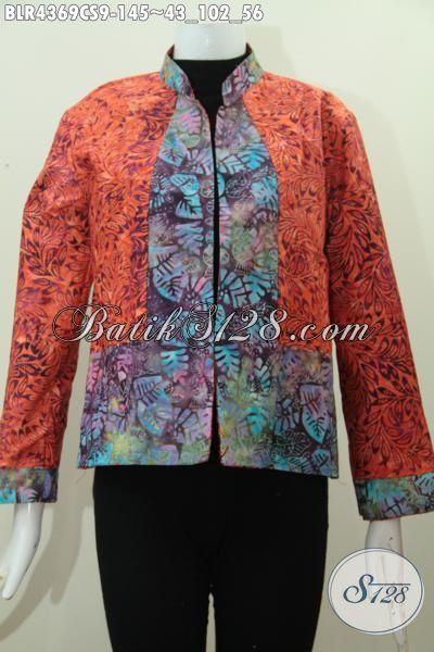 Baju Batik Balero Kwalitas Istimewa Buatan Solo Indonesia, Busana Batik Motif Kombinasi Warna Gradasi Kwalitas Istimewa Trend Mode Masa Kini