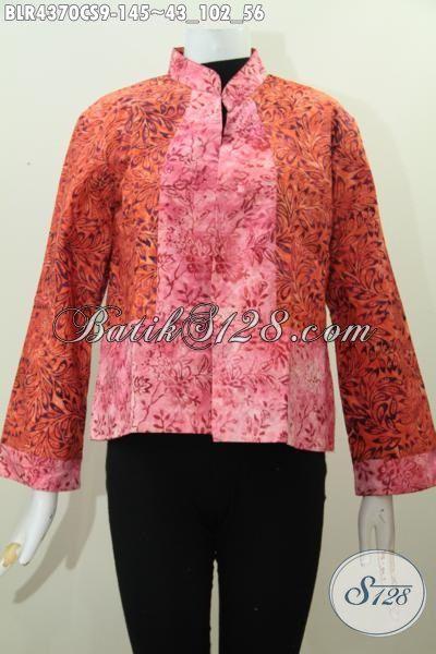 Jual Produk Pakaian Batik Istimewa Kwalitas Halus Bahan Adem Proses Cap Smoke, Balero Batik Bolak-Balik Trend Baju Kerja Wanita Karir 2017