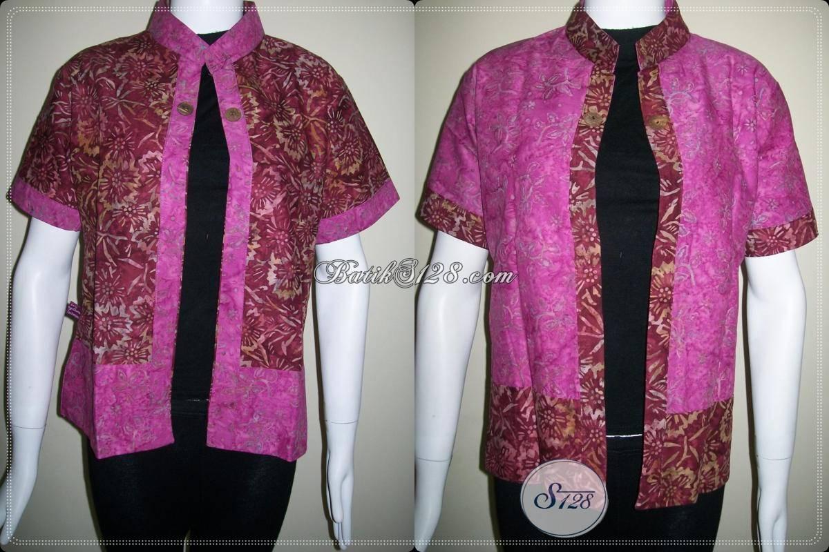 Bolero Batik Bolak Balik Wanita Trendy Dan Modern,Bolero Batik Murah Asli Batik Solo [BLR437CS]