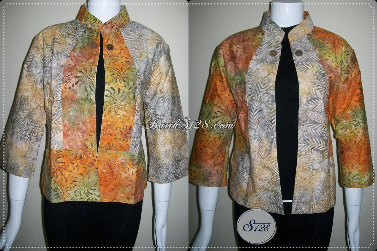 Blazer Batik Untuk Wanita Modern,Bolero Batik Lengan Panjang Untuk Remaja Putri [BLR442CS]